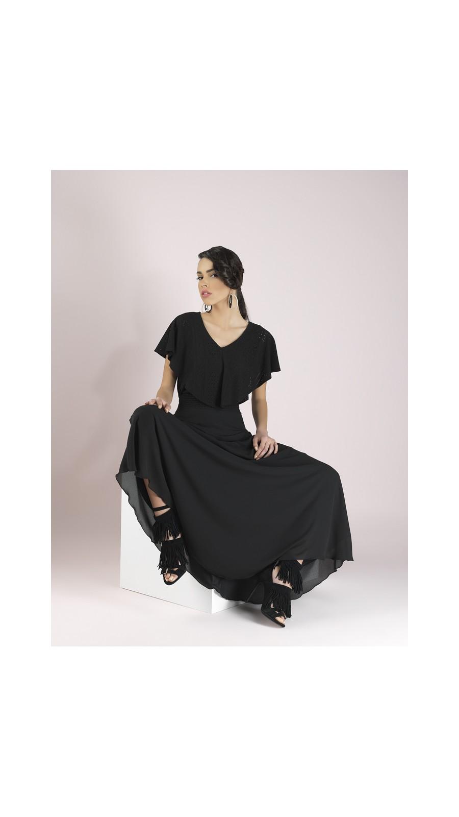 Φούστα διαφάνεια με λάστιχο διακοσμητικό  Φούστα διαφάνεια με λάστιχο  διακοσμητικό f30a65afa12