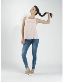 Αμάνικη διπλή μπλούζα με σχέδια