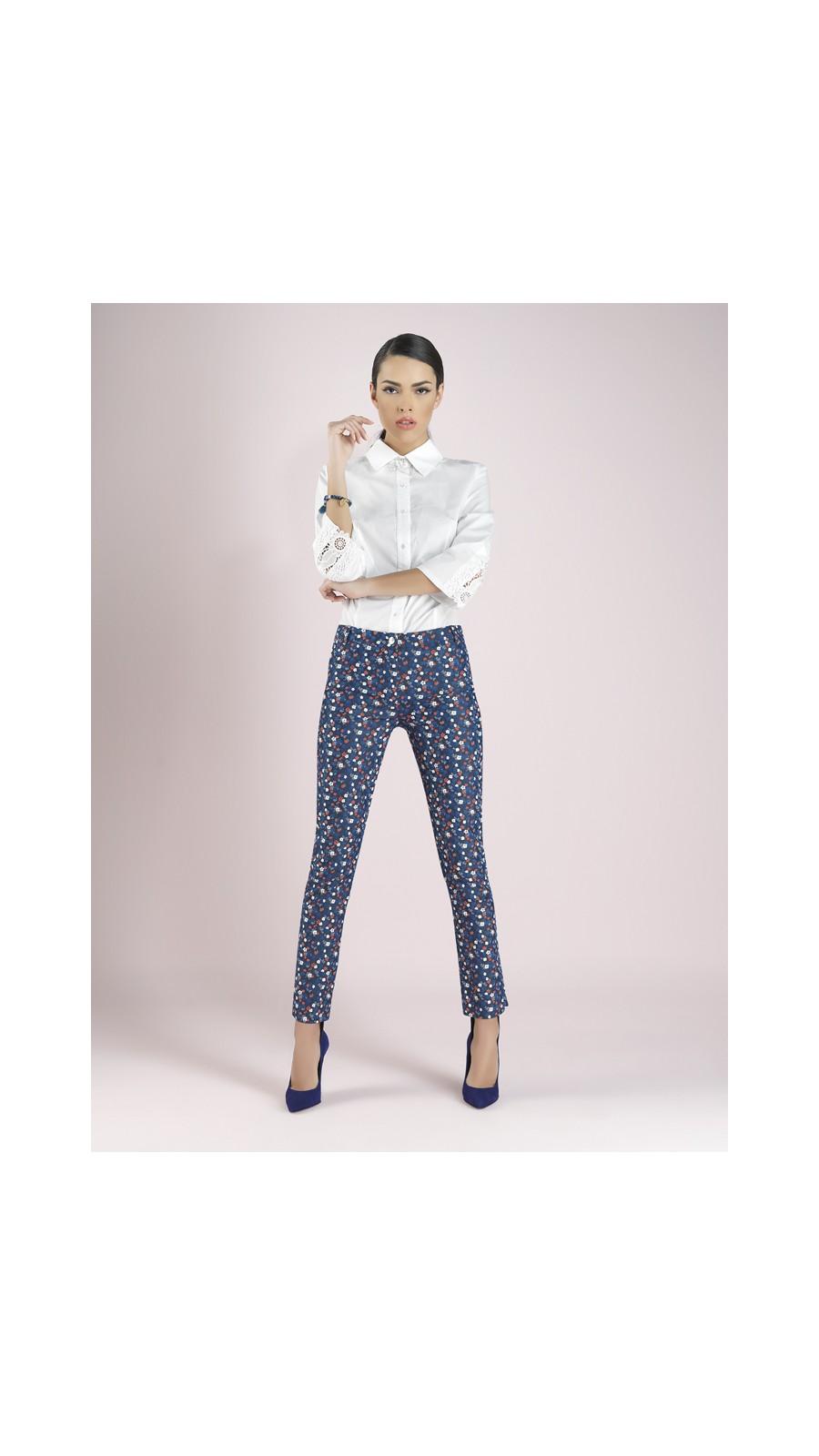 62ab1ec5c76 Πουκάμισο στενό με δαντέλα στο μανίκι - Open Fashion