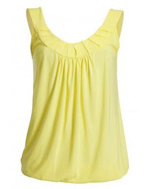 Sleeveless top with elastic waist