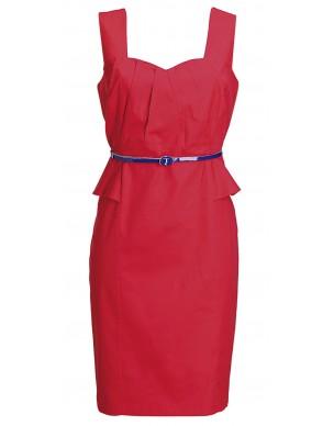 Dress with ruffles and decorative belt(κωδ.655)