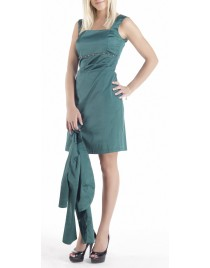 Satin dress with decorated strass(Κωδ.705)