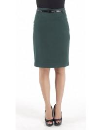 High-waist skirt with belt (Κωδ.3940)
