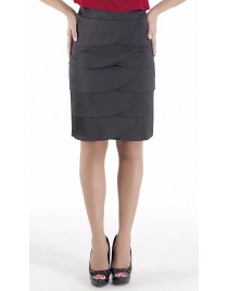 Satin skirt with levels