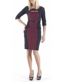 Dress with ruffles and trouakar sleeves