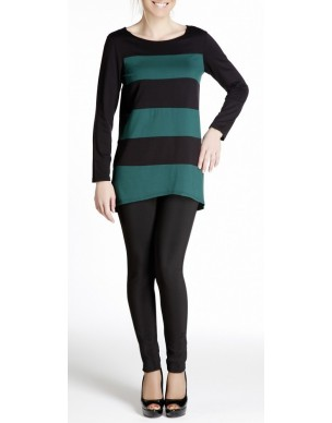Double-coloured shirt-dress