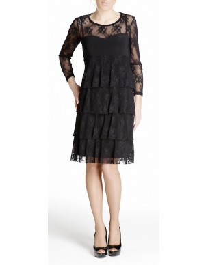 Dress with lace and levels