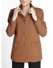 Παλτό κοντό με κουμπιά και όρθιο γιακά
