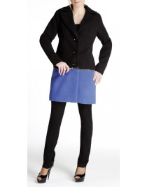 Double-coloured coat with removable piece