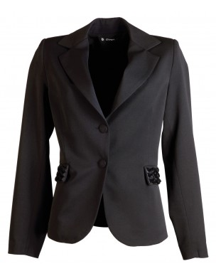 Jacket with detailssatin ribbon  on pockets