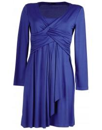Wrap shirt-dress viscose