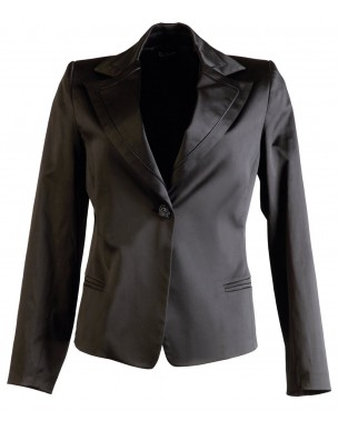 Jacket with satin details