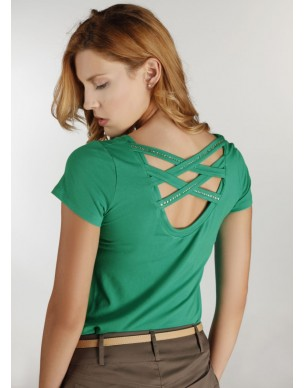 Tight top with strass at the back