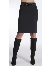 Pencil skirt with elastic belt