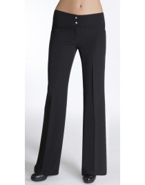 Straight trousers with gold buttons