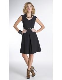 Φόρεμα κλός με κουφόπιετα και ζωνάκι στη μέση