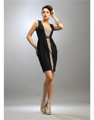 Double coloured sleeveless dress