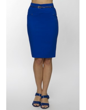 Skirt with small zips in pencil style