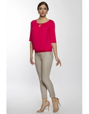 Top loose style with elastic waist