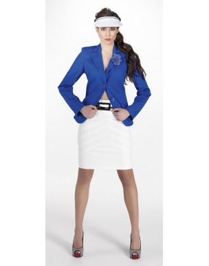 Pencil skirt with lines and double colored belt