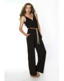 Catsuit with leather belt