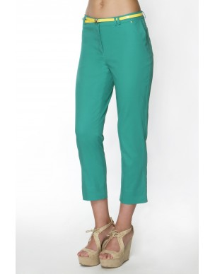 Trousers 3/4 with coloured belt
