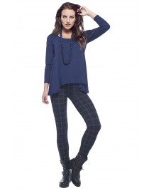 Asymmetric top with necklace