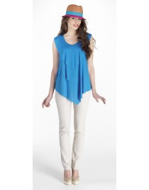 Top with 3 levels and pleat sleeves
