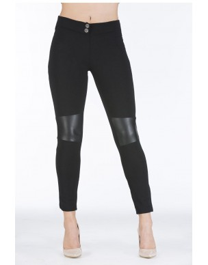 Leggins trouser with leather