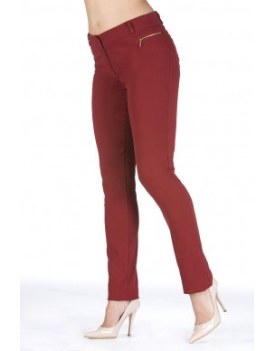 Tight fit trouser with gold zip